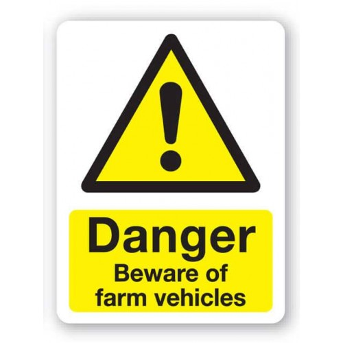 Danger - Beware Farm Vehicles Sign