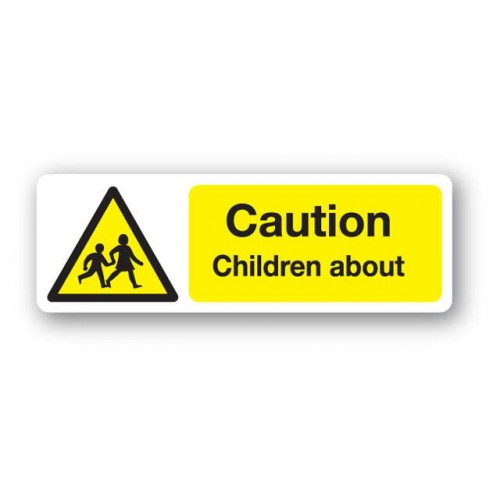 Caution - Children About Sign