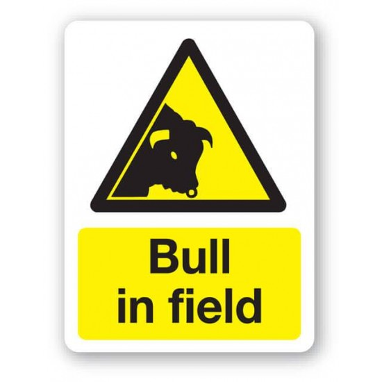 Bull In The Field Sign