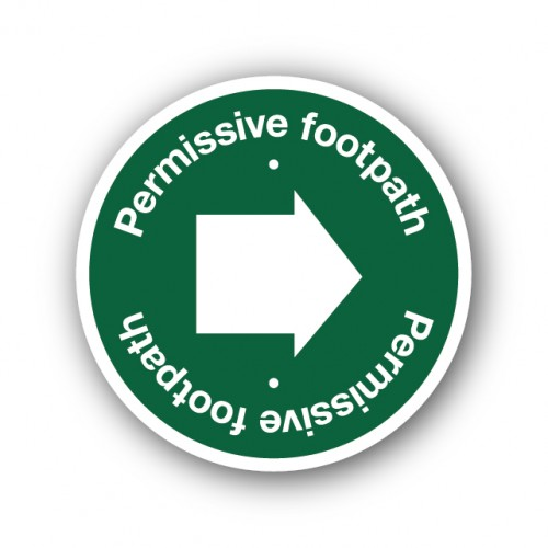 Permissive Footpath Waymarker Disk