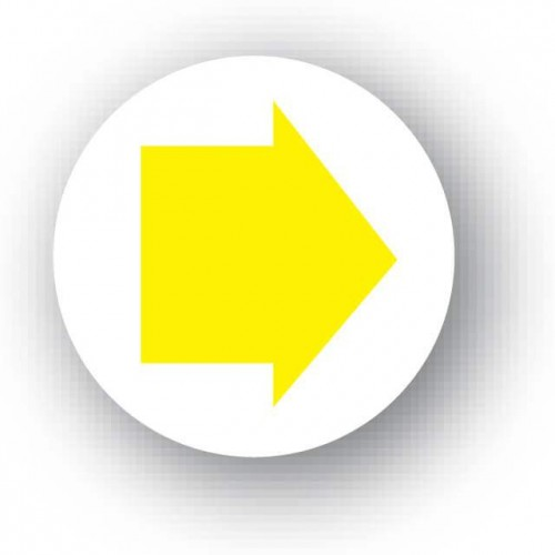 Yellow Arrow Waymarker Disc (Footpath)