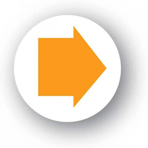 Orange Arrow Waymarker Disc (Byway Open To All Traffic)