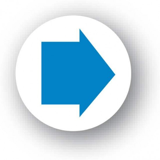 Blue Arrow Waymarker Disc (Bridleway)