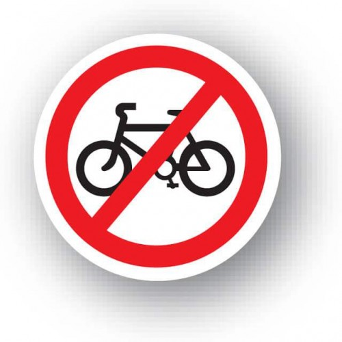 No Cycling Waymarker Disc