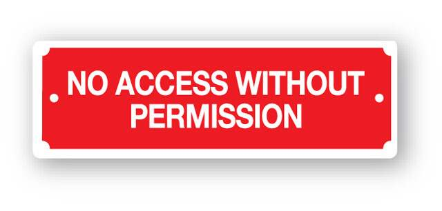 dg22zp no access without permission sign