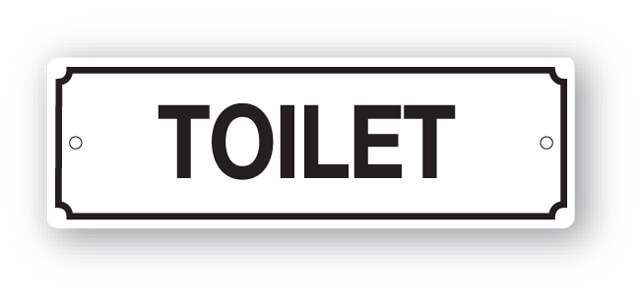 Dg26zp Toilet Sign
