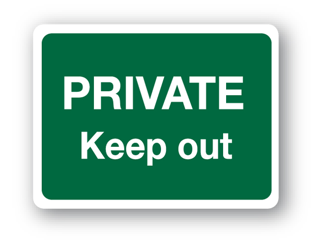 private keep out sign farm sign