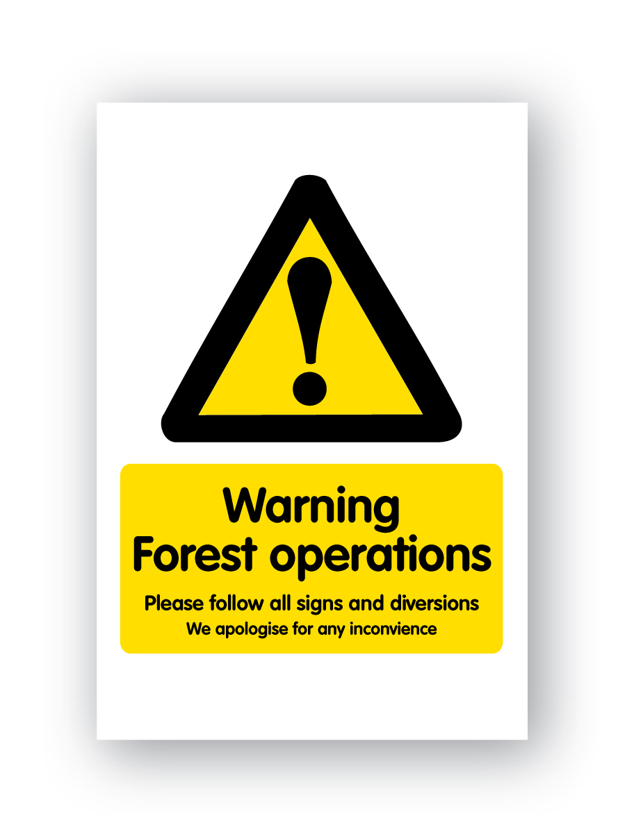 Warning Forest Operations...sign