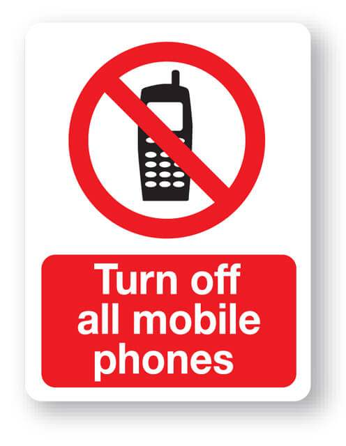 Turn Off All Mobile Phones Sign Farm Signs