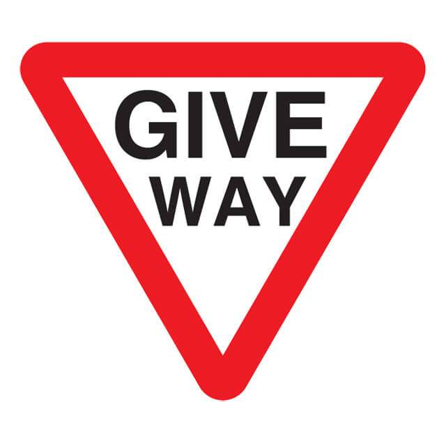 T24ep Give Way Sign