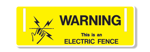 Electric Fence Sign Pack Of 10