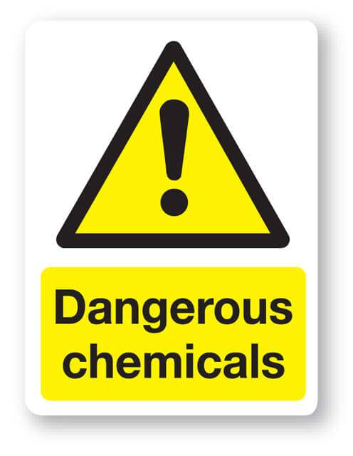 Dangerous Chemicals Sign 300x400mm