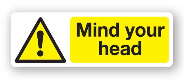 W17fp Mind Your Head Sign