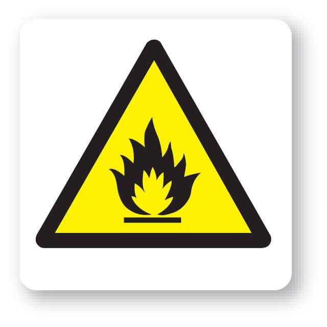 W26jp Flammable Substances Symbol Sign
